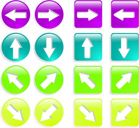 the color vector web arrow icon set Vector