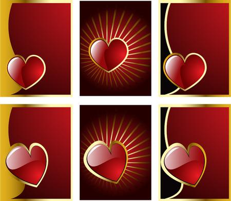 vector valentines hearts set 8 Vector