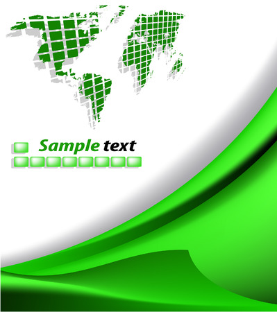 gradient mesh: the vector green abstract background
