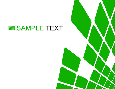 fragmentation: the green vector abstract background  Illustration