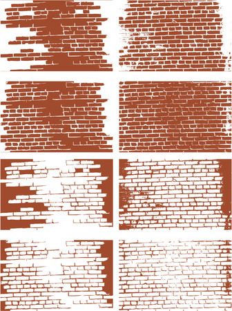 the vector brick wall set Stock Vector - 5059578
