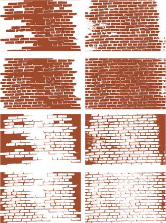 the vector brick wall set Stock Vector - 5059578