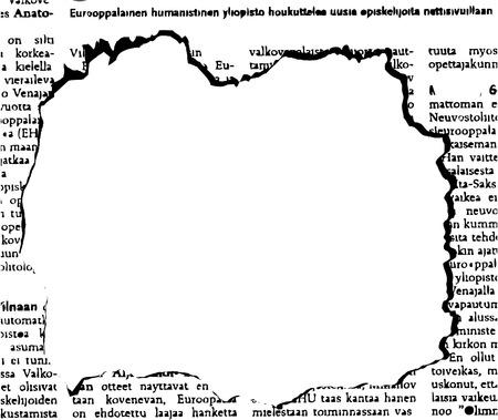 oude krant: de vector krant gat  Stock Illustratie
