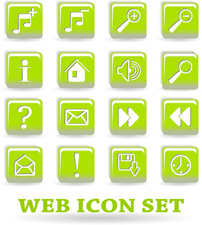 the vector set web icon Stock Vector - 5085729