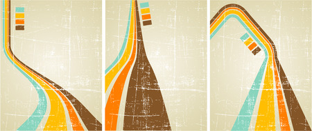 the vector retro grunge background set Stock Vector - 5085765