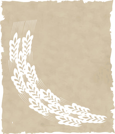 the vector wreath on old paper Vector