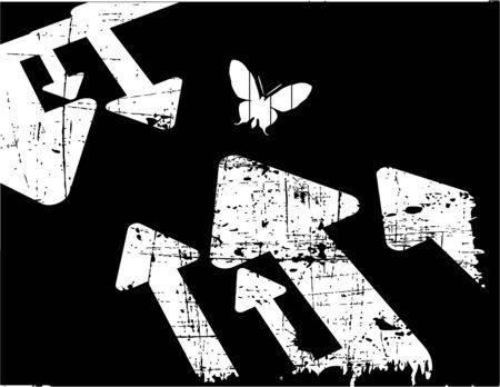 the black and white vector retro grunge background Vector