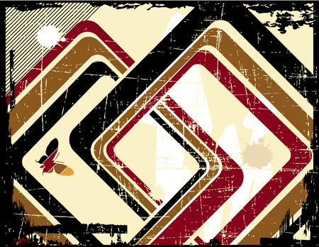 the vector retro grunge background  Vector