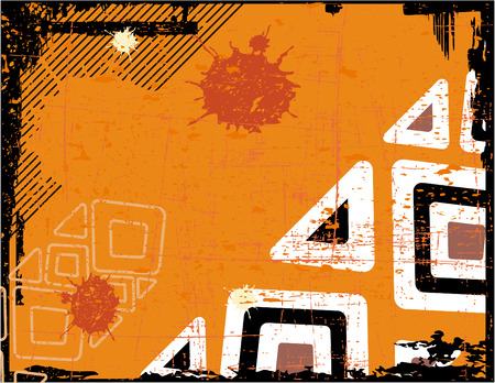 the ethnic vector retro grunge background Stock Vector - 5172374