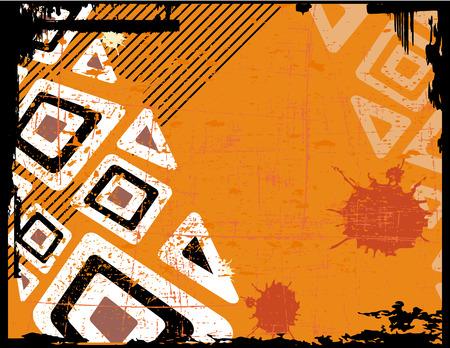 the ethnic vector retro grunge background