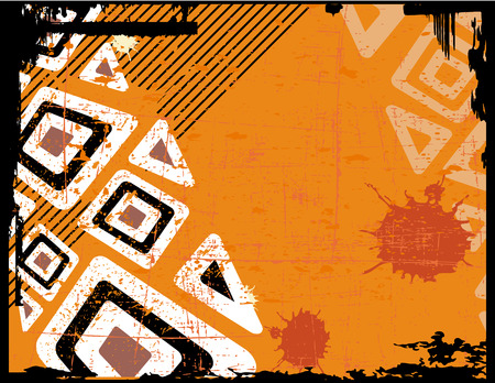 the ethnic vector retro grunge background Vektorové ilustrace