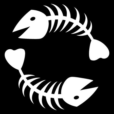 pez abstracto: el esqueleto de peces abstracta de vector dos Vectores