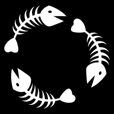 pez abstracto: el resumen de vectores de fondo de pescado esqueleto Vectores