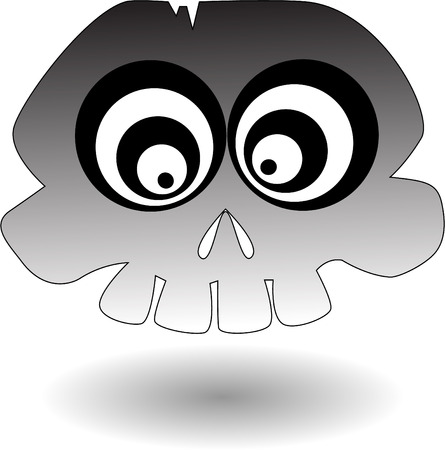 the vector cartoon skull Stock Vector - 5504973