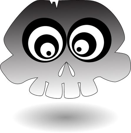 the vector cartoon skull Vector