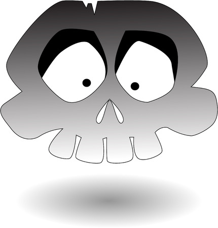 calavera caricatura: el cr�neo de dibujos animados de vectores