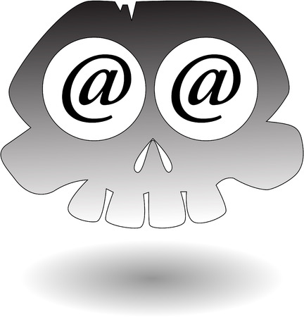 the vector cartoon skull Stock Vector - 5504977