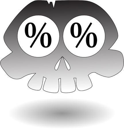 the vector cartoon skull Stock Vector - 5504976