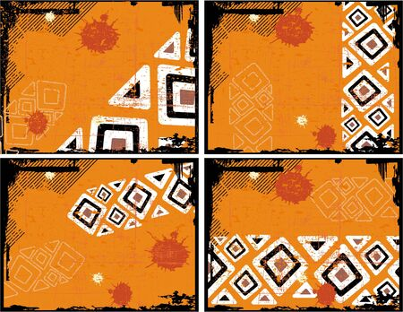 the ethnic vector retro grunge background  Vector