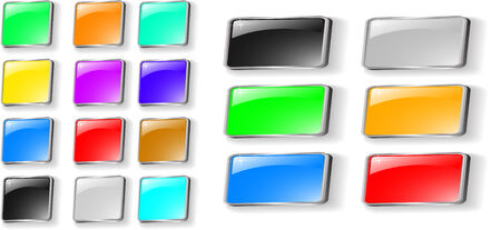 set of colored buttons set Vector