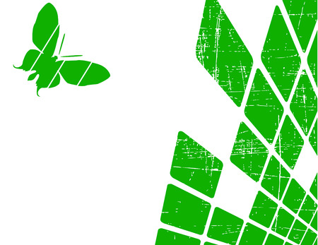 the green abstract background  Vector