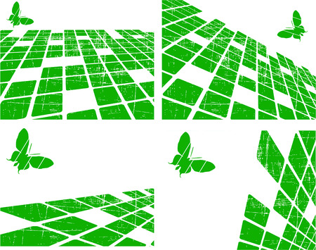 the green abstract background set Vector