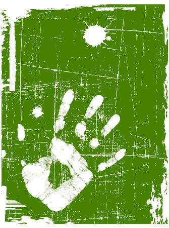 grunge green background Stock Vector - 6242752