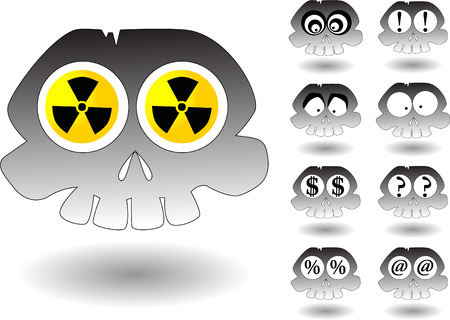 cartoon skull set Vector