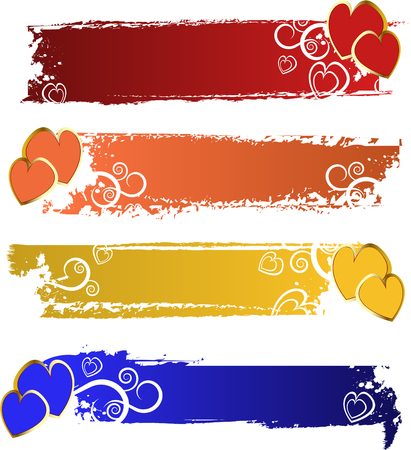 color banners set Vector