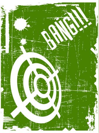 target on grunge background Vector