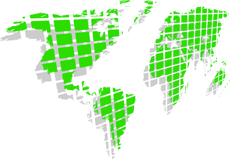 the green world map  Vector