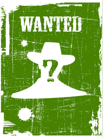 the wanted poster image Illustration