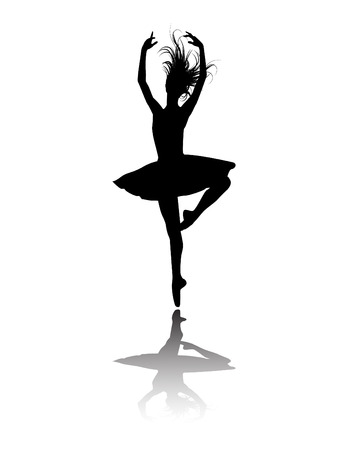 the ballet dancers silhouette Stock Vector - 6337588