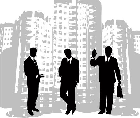 the business silhouette Vector