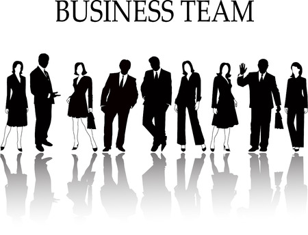 business activity: the business silhouette Illustration