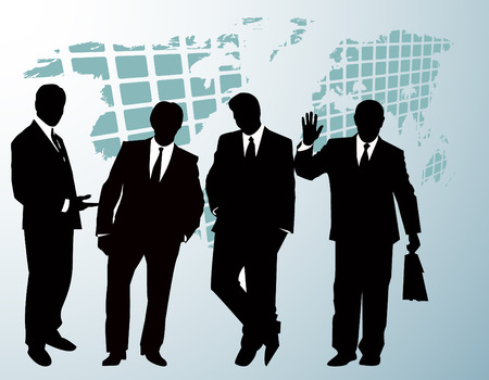 uniting: the vector business silhouette