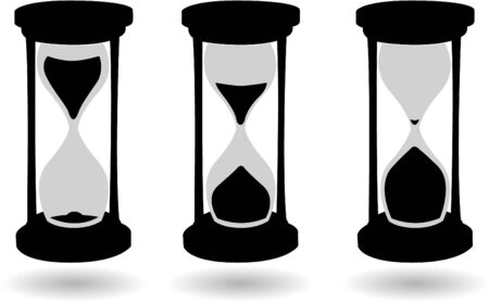 sand timer: the vector black and white hourglass