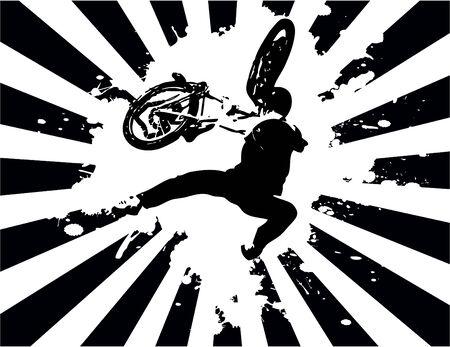 bmx: the vector retro grunge background