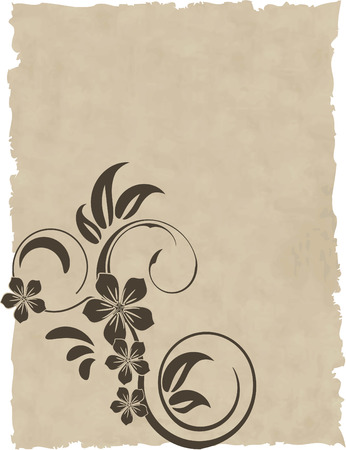 the old paper vector grunge background Vector
