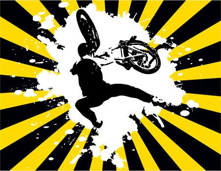 stunts: il vettore retr� grunge background