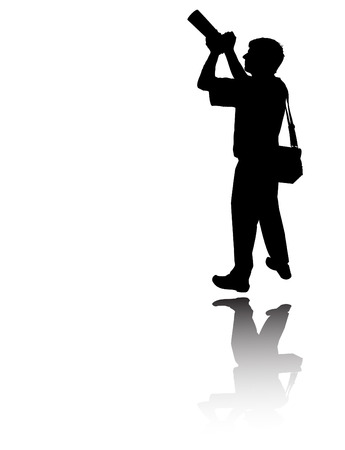 the vector Photographers silhouette  Vector
