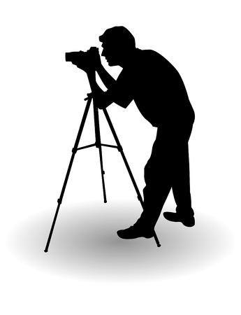 el vector fotógrafo silueta