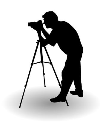 human photography: el vector fot�grafo silueta  Vectores