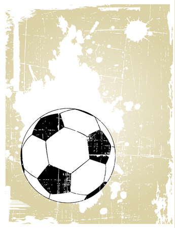 the vector grunge background with soccer ball  Vector