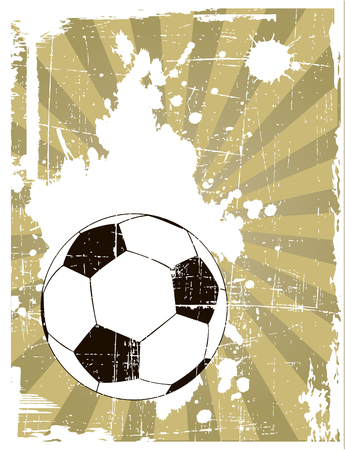 soccer net: the vector grunge background with soccer ball