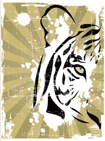 the vector abstract tiger head Vector