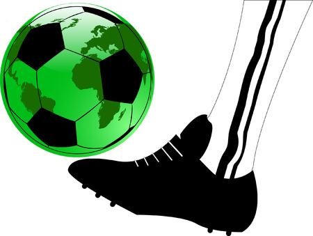 the vector abstract sport soccer background Vector