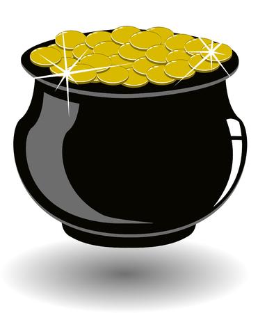 lingotes de oro: el vector St patricks d�a olla de oro