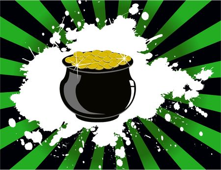 the  st. patricks day pot of gold Vector