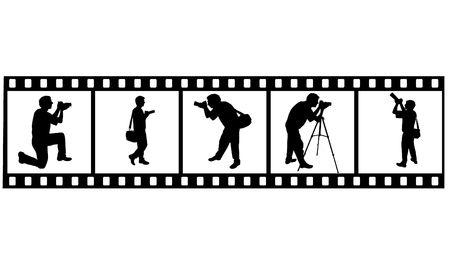 silueta del fotógrafo